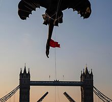 Toothless over Tower bridge  by samandoliver