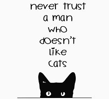 Never Trust a Man Who Doesn't Love Cats Women's Fitted Scoop T-Shirt