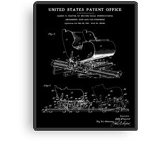 Roller Coaster Patent - Black Canvas Print
