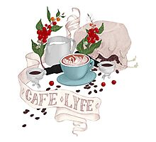 Cafe Lyfe Photographic Print