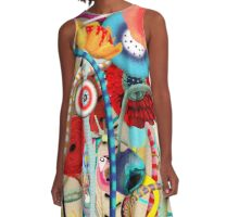 Colorful Happy Days  A-Line Dress