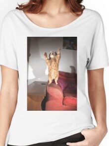 Excited cat Women's Relaxed Fit T-Shirt