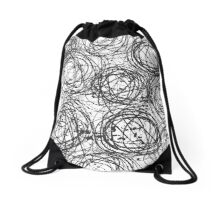 Ink Circles Drawstring Bag
