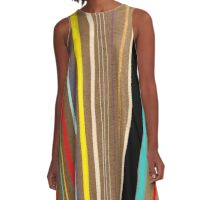 Abstract Art Colorful Pattern A-Line Dress