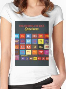 Chocolate Bar Table Women's Fitted Scoop T-Shirt