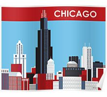Chicago, Illinois Skyline by Loose Petals Poster