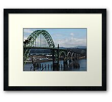 The Bridges Of Oregon's Coast - The Alsea Bay Bridge ©  Framed Print
