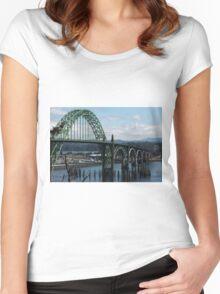 The Bridges Of Oregon's Coast - The Alsea Bay Bridge ©  Women's Fitted Scoop T-Shirt