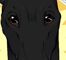 Greyhound Love (Black) Sticker
