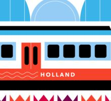 Postcards from Amsterdam / Train and Tulips Sticker