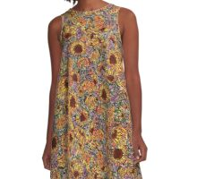 Sunflower repeating pattern A-Line Dress