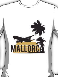 Palm plane sun Mallorca Design T-Shirt