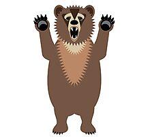 Bear Says Boo Photographic Print