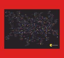 Pac Man Tube map Kids Tee