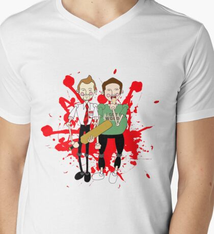 Shaun of the Dead inspired design Mens V-Neck T-Shirt