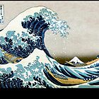 The great wave, famous Japanese artwork by aapshop