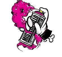 spray pink Photographic Print