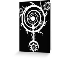 The White Spell Magic Greeting Card