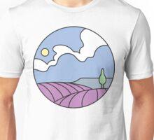 Round Tasmania: Lavender Fields Unisex T-Shirt