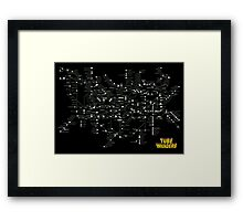 Tube Map as Space Invaders - Poster & stickers Framed Print