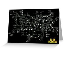 Tube Map as Space Invaders - Poster & stickers Greeting Card