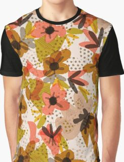 Retro Flower Pop - Coral Graphic T-Shirt