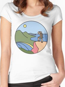 Round Tasmania: Wineglass Bay Women's Fitted Scoop T-Shirt