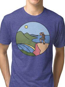 Round Tasmania: Wineglass Bay Tri-blend T-Shirt