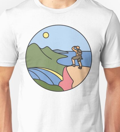 Round Tasmania: Wineglass Bay Unisex T-Shirt