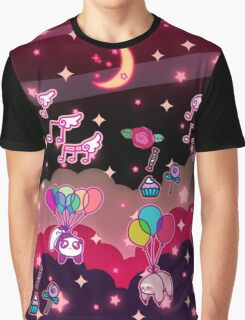 Animals Balloons and Night Sky Graphic T-Shirt