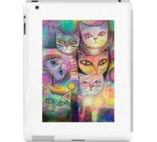 Mother cat and kittens iPad Case/Skin