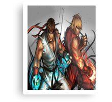 Street Fighter   Ryu x Ken Metal Print