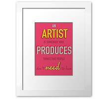 Quote Andy Warhol Framed Print
