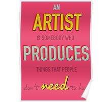 Quote Andy Warhol Poster