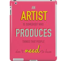 Andy Warhol Quote iPad Case/Skin
