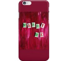 Marry Me iPhone Case/Skin