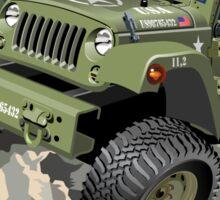 Cartoon military 4x4 car Sticker