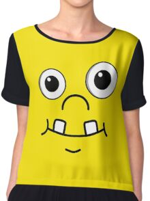 Cute funny cartoon face Chiffon Top