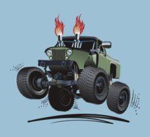 Cartoon Custom 4x4 Car Kids Tee