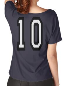 10, TEAM SPORTS NUMBER, TEN, TENTH, Competition Women's Relaxed Fit T-Shirt