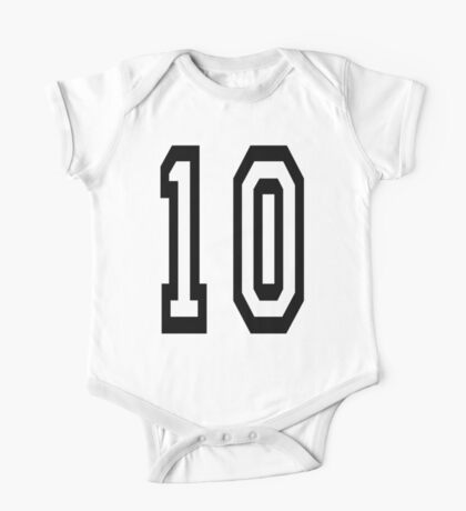 10, TEAM SPORTS NUMBER, TEN, TENTH, Competition One Piece - Short Sleeve