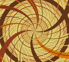 Brown vortex Sticker