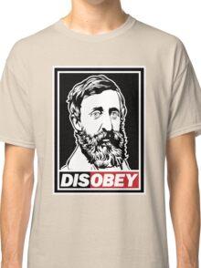 "Henry David Thoreau ""Disobey""  Classic T-Shirt"