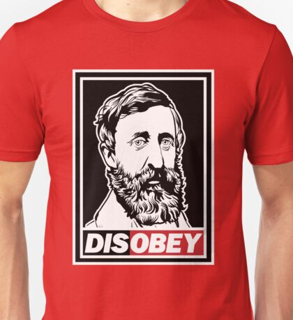 """Henry David Thoreau """"Disobey""""  T-Shirt"""