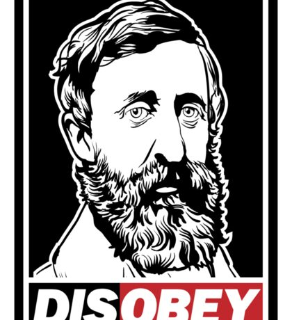 "Henry David Thoreau ""Disobey""  Sticker"