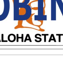 """Robin 1""  Magnum Hawaii Plate Sticker"