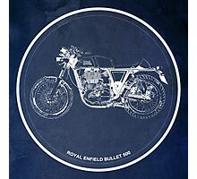 Royal Enfield Bullet 500 classic motorcycle for men cave Photographic Print