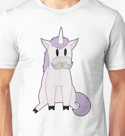Unicorn with a Moustache Unisex T-Shirt