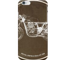 Royal Enfield Bullet 500 classic motorcycle gift for men iPhone Case/Skin