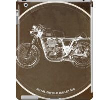 Royal Enfield Bullet 500 classic motorcycle gift for men iPad Case/Skin
